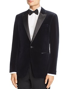 Theory - Theory Chambers Velvet Slim Fit Tuxedo Jacket
